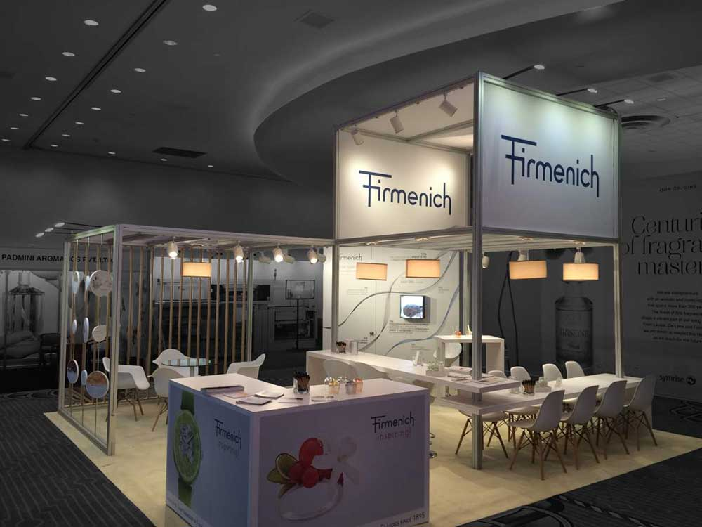 firmenich exhibition stand
