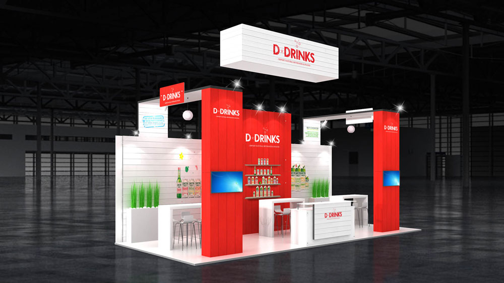 Corner Exhibition Stands Zone : M two corner exhibition stand stands