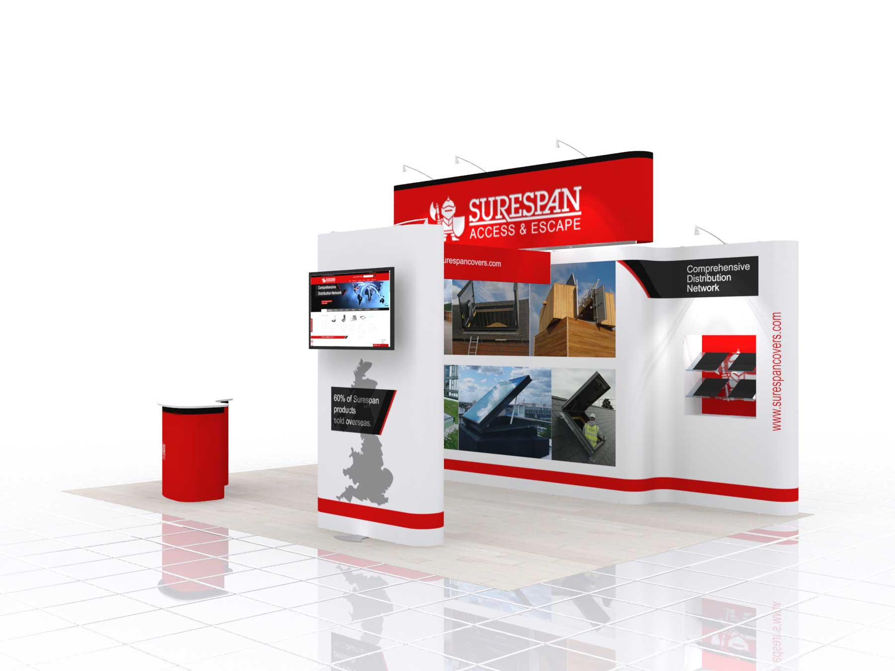big exhibition stands
