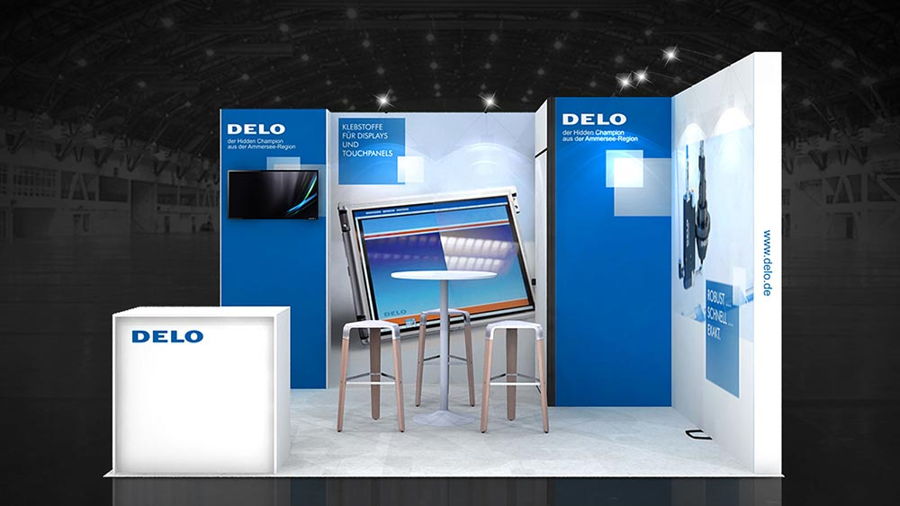 Exhibition Stand Graphic Design : M corner exhibition stands