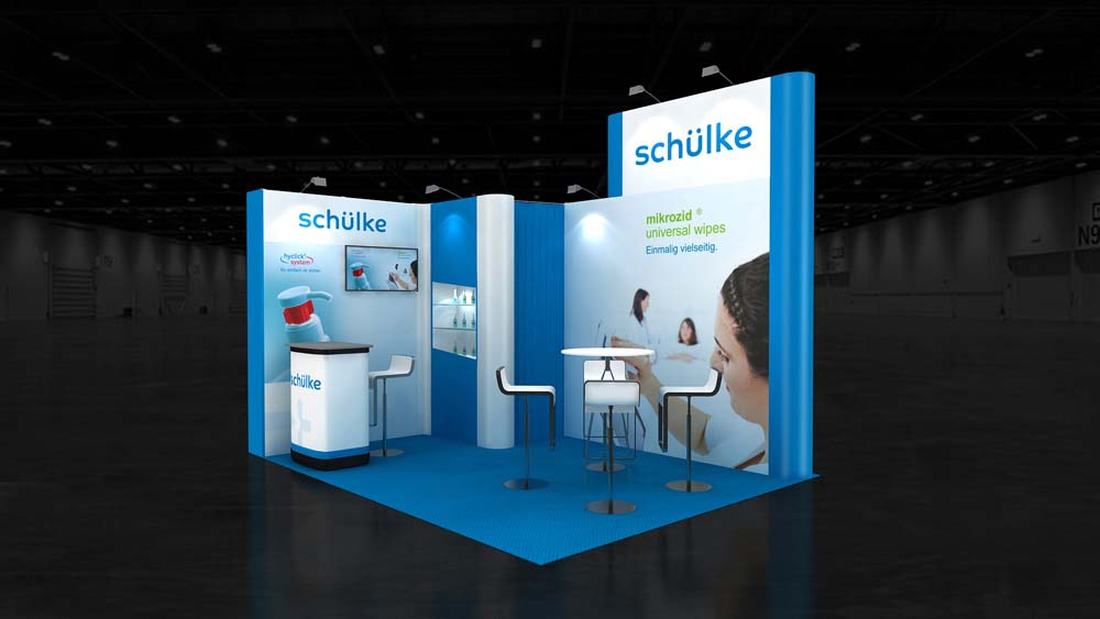 Simple Exhibition Stand Out : M corner exhibition stands