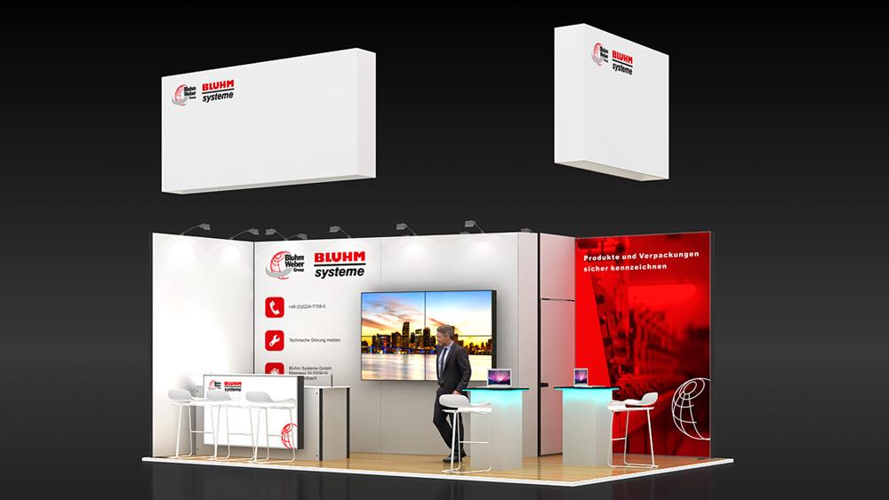 3x3 exhibition stand