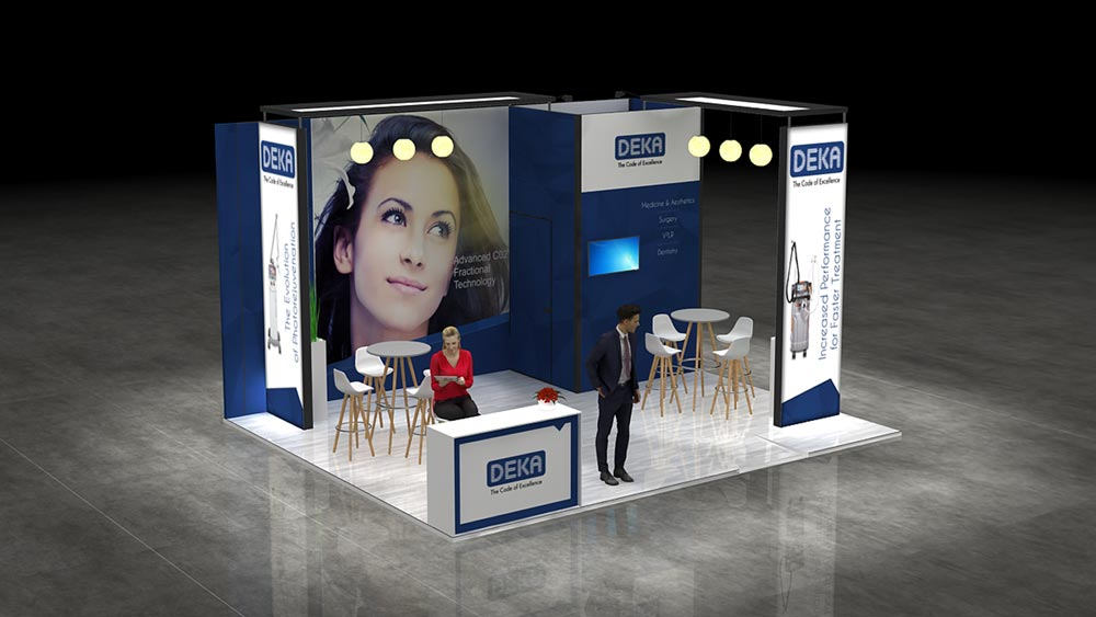 Corner Exhibition Stands Out : M two corner exhibition stand