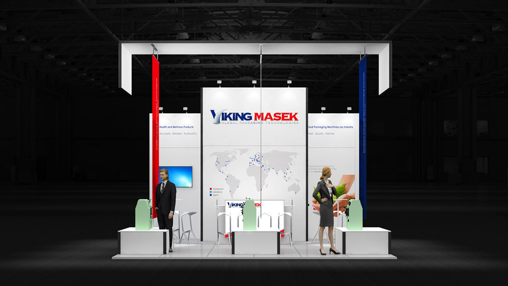 curved exhibition stand
