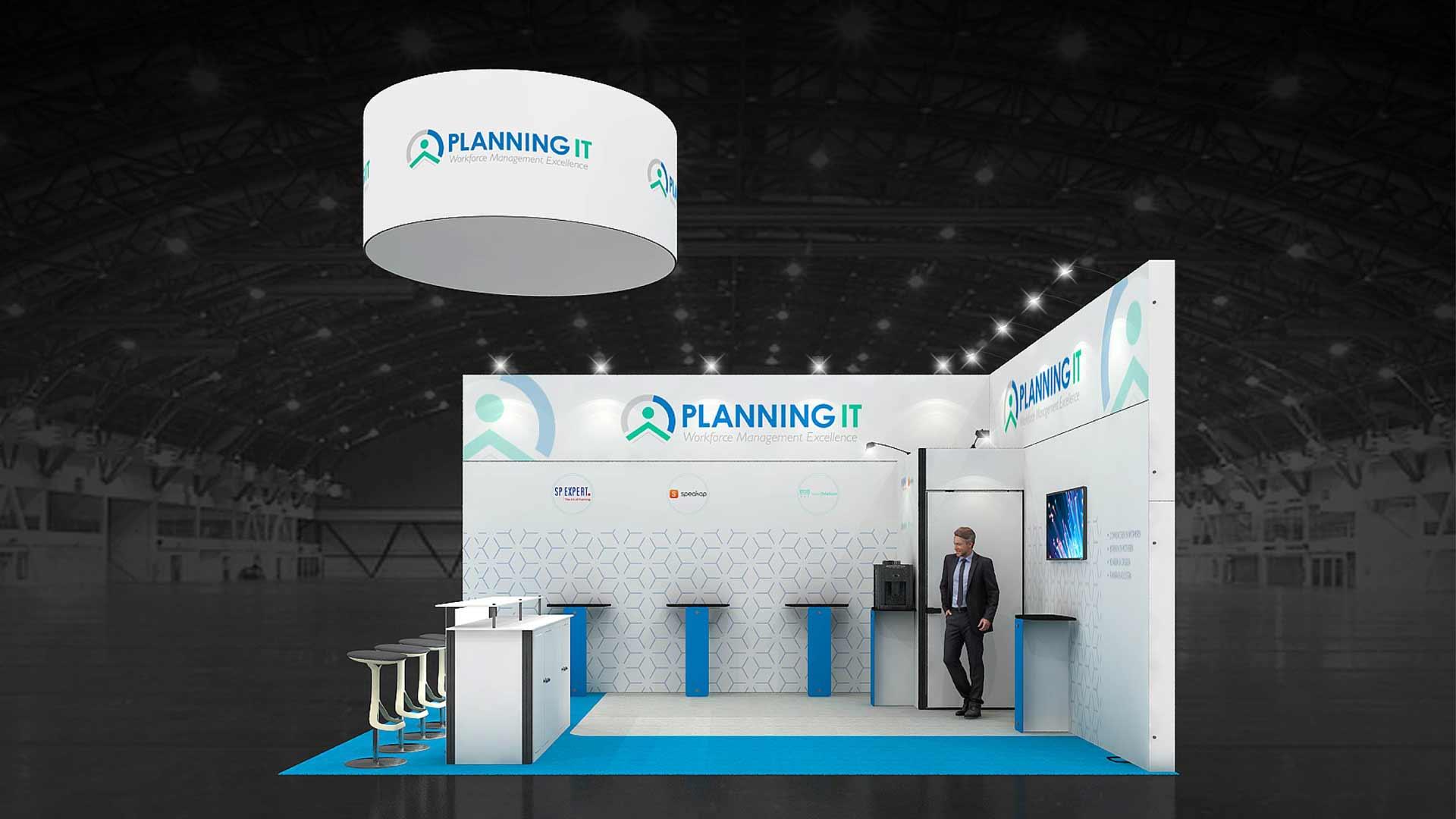 Exhibition Stand Planner : M corner exhibition stands