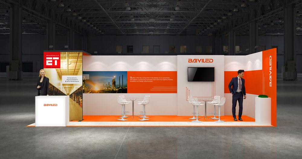 Corner Exhibition Stands Zero : M corner exhibition stands