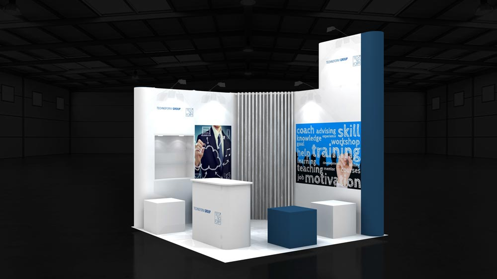 Exhibition Stand Interactive : M corner exhibition stands