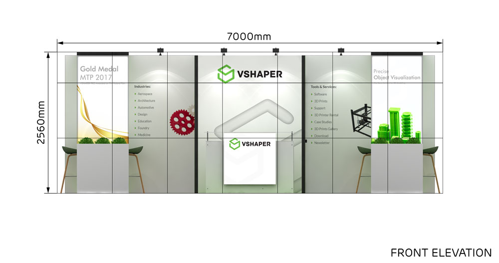 Expo Stands Shaper : M two corner exhibition stands